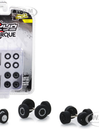 """""""Tokyo Torque"""" Wheels and Tires Multipack Set of 24 pieces """"Wheel & Tire Packs"""" Series 2 1/64 by Greenlight"""